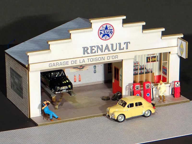 Maquette papier 1 43 for Garage renault ile verte