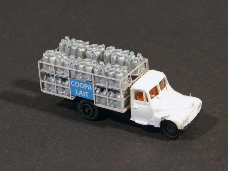 camion de lait citro n u23 avec bidons r gions compagnies maquettes en carton imprim. Black Bedroom Furniture Sets. Home Design Ideas
