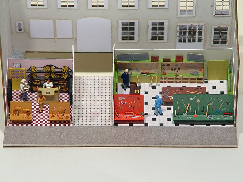 murs et cloisons commerces d couper r gions compagnies maquettes en carton imprim. Black Bedroom Furniture Sets. Home Design Ideas
