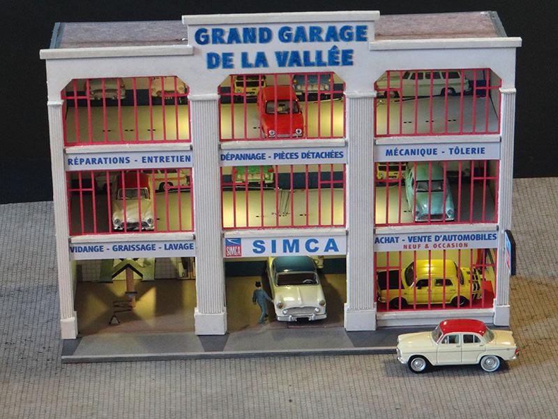 Fa ade grand garage simca r gions compagnies maquettes en carton imprim pr d coup au laser - Grand garage du gard occasion ...