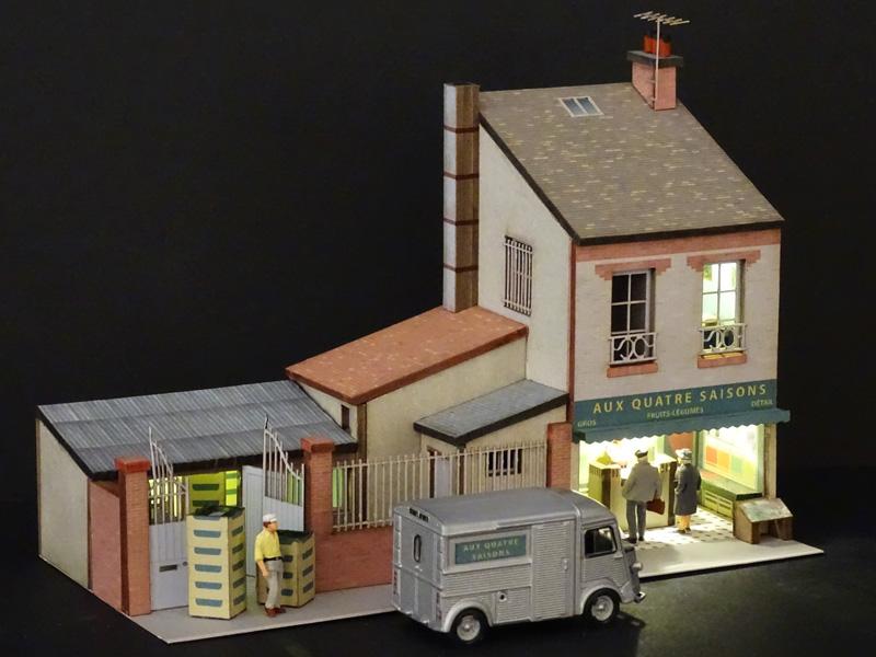 Petite Maison Avec Commerce Régions Compagnies