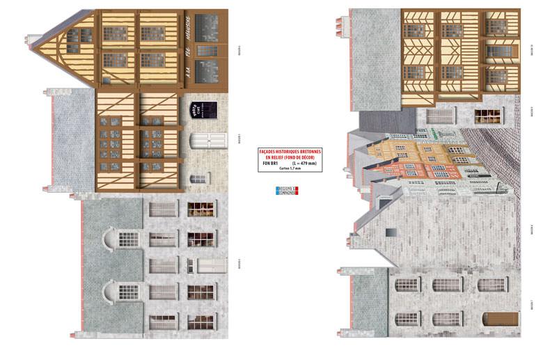 fond de d cor maisons historiques bretonnes r gions compagnies maquettes en carton. Black Bedroom Furniture Sets. Home Design Ideas
