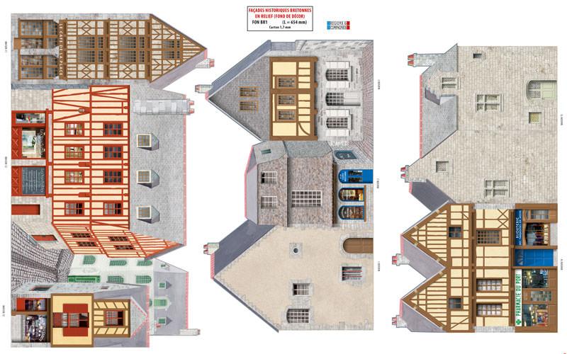 Fond de d cor maisons historiques bretonnes r gions for Les decores des maisons
