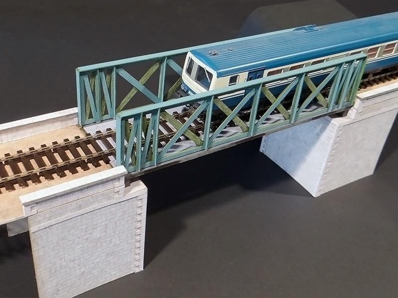 pont treillis voie unique voie double droit biais cul es. Black Bedroom Furniture Sets. Home Design Ideas